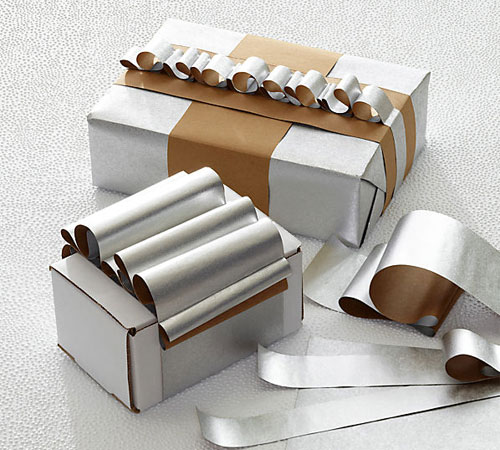 Silver + Kraft Wrapping Paper