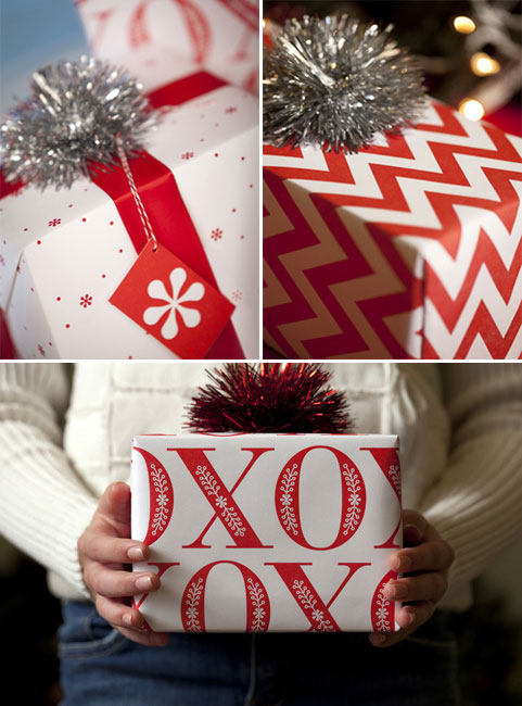 Letterpress Holiday Wrapping Paper