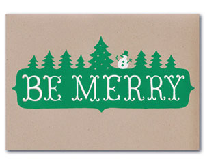 Be Merry Holiday Card