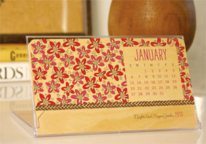 Birch Wood Botanical Calendar