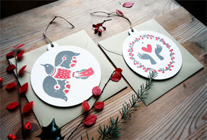 Bird + Hands Letterpress Ornament Cards