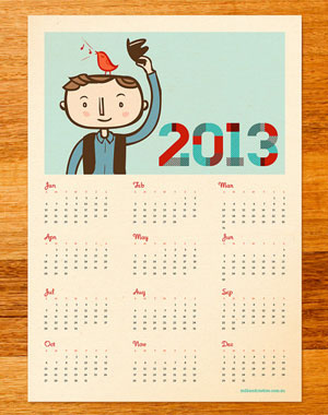 Bird Radio Calendar