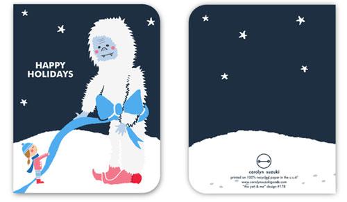 Yeti Holiday Card by Carolyn Suzuki