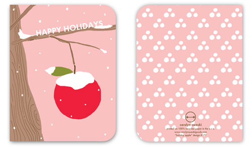 Holiday Apple Card by Carolyn Suzuki