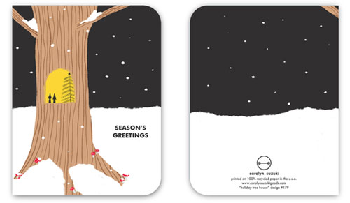 Holiday Tree Card by Carolyn Suzuki