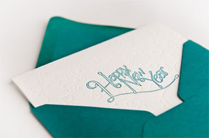 Champagne Toast Letterpress Card