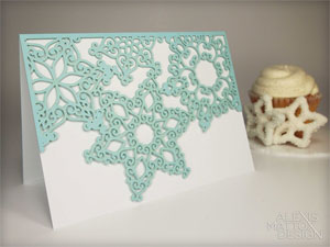 Falling Snow Laser Cut Card