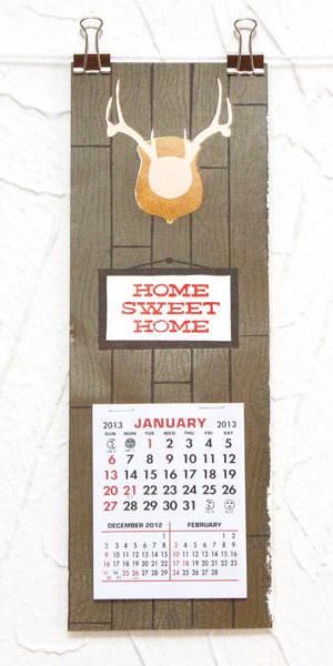 Home Sweet Home Letterpress Calendar