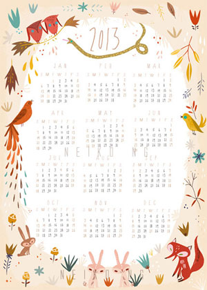 Illustrated Animal Calendar