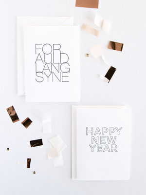 In Haus Press New Year Cards