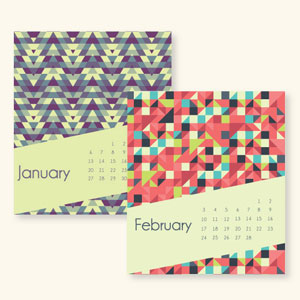 Colorful Desktop Calendar