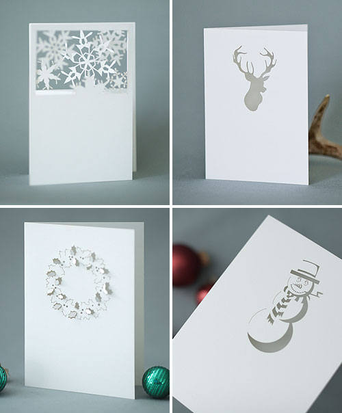 Laser Cut Holiday Cards by Plane Paper