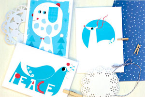 Leah G Illustrated Holiday Cards