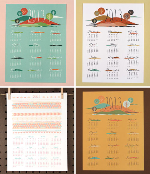 Love vs. Design Free Printable Calendars