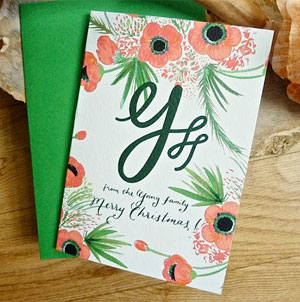 Monogram Holiday Card
