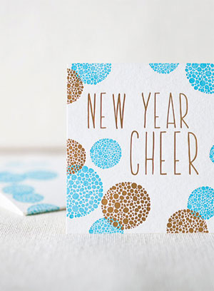 New Year Cheer Letterpress Card
