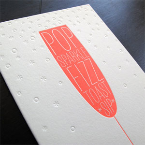 Pop Fizz Letterpress Card
