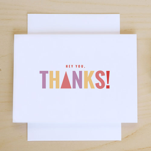 Hey You, Thanks! Card