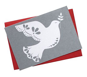 Silver Dove Card