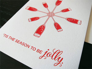 'Tis the Season Letterpress Card