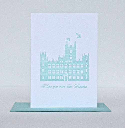 Downton Abbey Love Card by Foxy &amp; Winston