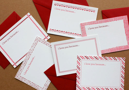 Little Love Notes Letterpress Cards by Echo Letterpress