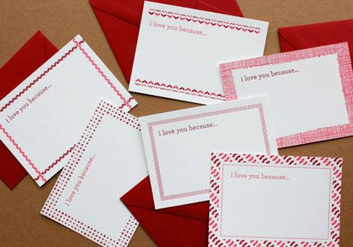 Little Love Notes Letterpress Cards by Echo Letterpress