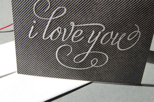 I Love You Letterpress Card by Pistachio Press