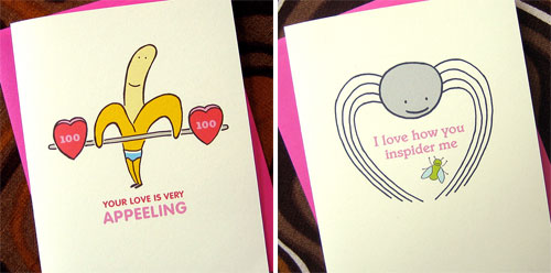 Punny Valentine's Day Cards by Inklosures