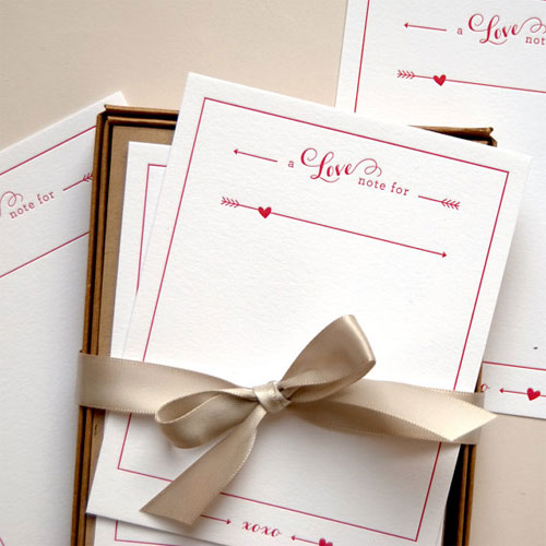 Letterpress Love Notes Set