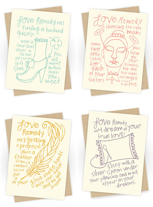 Love Remedies Letterpress Cards by Moxie House Paper