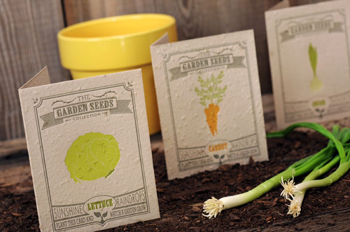 Plantable Letterpress Greeting Cards