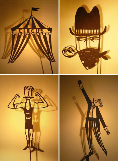 Papercut Shadow Puppets by Su Owen