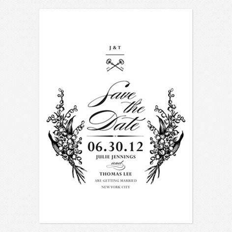 Antique Chic Save the Date Cards