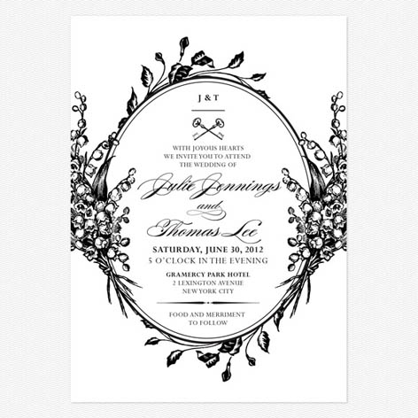 Anique Chic Wedding Invitations