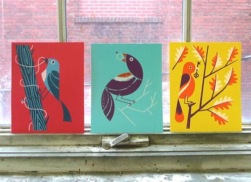 Birds of Play Art Prints