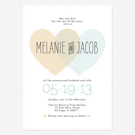Perfect Heart To Heart Wedding Invitations