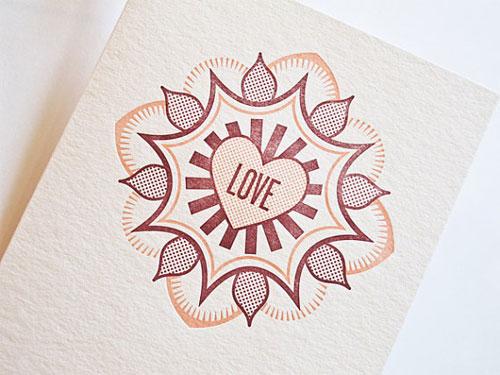 Letterpress Love Card by Pressbound