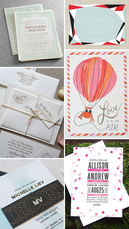 Modern Wedding Invitations and Save the Dates