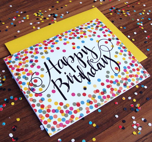 Confetti Birthday Card | An Open Sketchbook