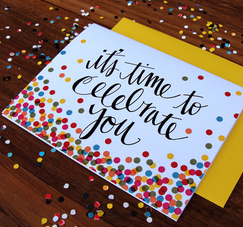 Confetti Celebrate You Card | An Open Sketchbook