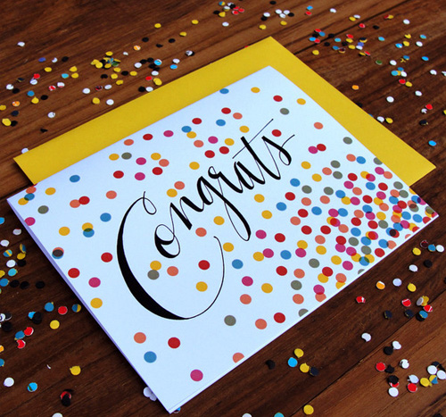 Confetti Congrats Card | An Open Sketchbook