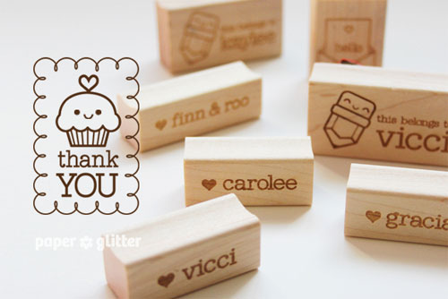 Cute Rubber Stamps from Paper Glitter