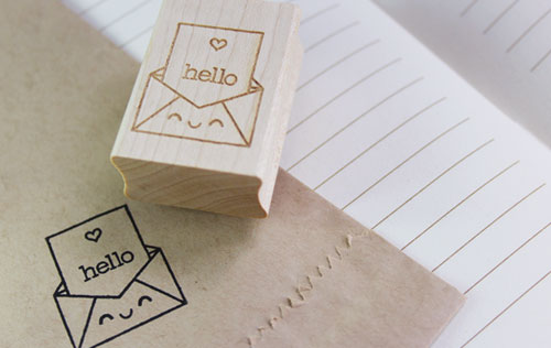 Kawaii Hello Stamp from paperglitter.com