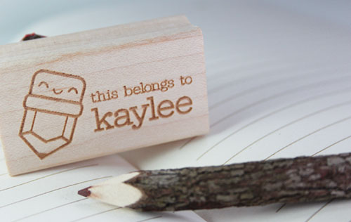 Personalized Rubber Stamp from Paper Glitter
