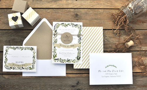 Nature Inspired Wedding Invitations by Smitten on Paper
