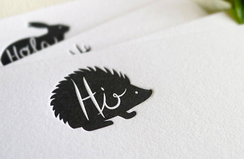 Woodland Animal Hello Cards