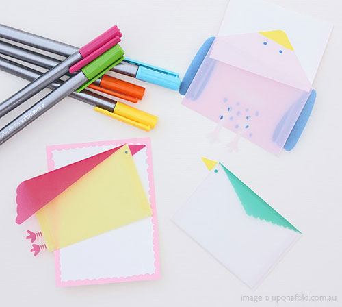 Clever Paper Bird Envelopes