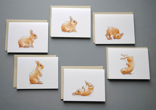 Bunny Somersault Cards
