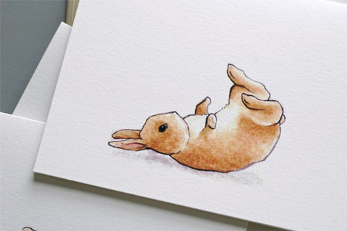 Bunny Somersault Cards by Little Alexander